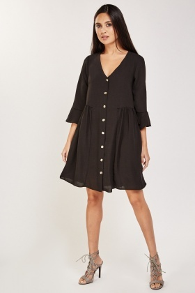 Frill Sleeve Tunic Dress
