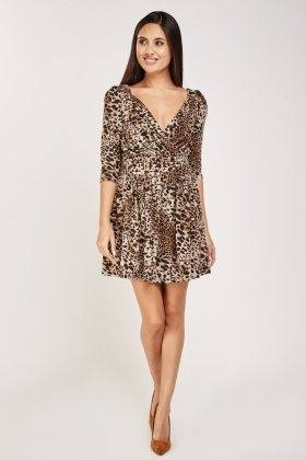 Leopard Print Frilly Dress