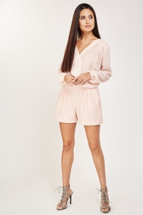 Long Sleeve Sheer Playsuit