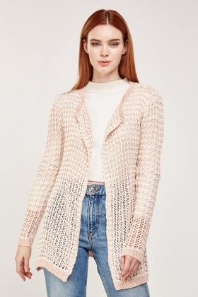 Two Tone Crochet Cardigan