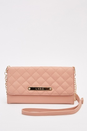 LYDC Quilted Mini Clutch Bag