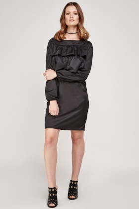 Frill Front Shift Dress