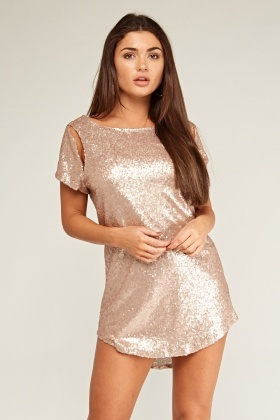 Low Back Sequin Mini Dress