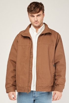 Oversized Zipped Mens Jacket