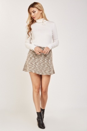A-Line Speckled Mini Skirt