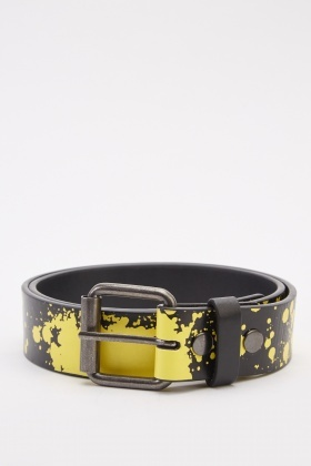 Splash Paint Printed Belt