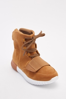 High Top Suedette Sneakers