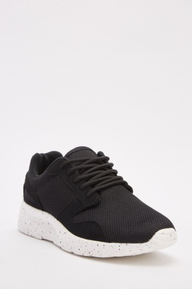 Low Top Mesh Overlay Trainers