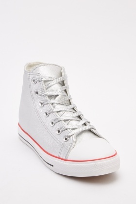 Metallic Lace Up Sneakers