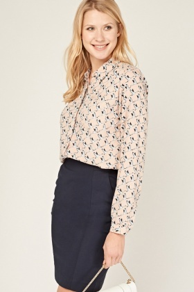 Swan Printed Blouse
