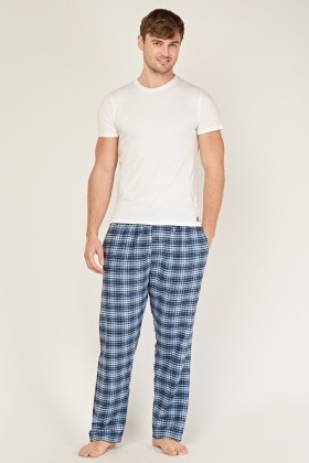 Mens Plaid Pyjama Trousers