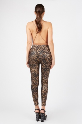 Shine Leopard Leggings