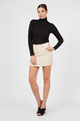 Suedette Mini Skirt
