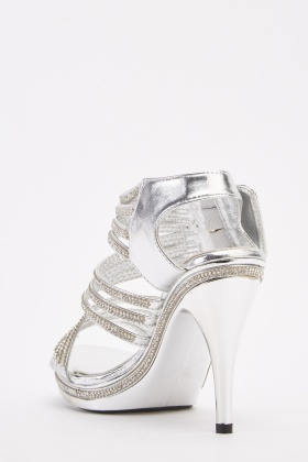 Encrusted Spiral Strappy Sandals