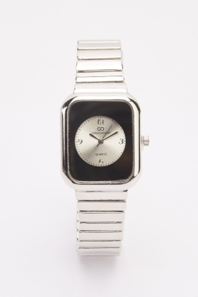 Metal Square Face Watch