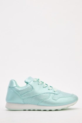 Metallic Perforated Trainers