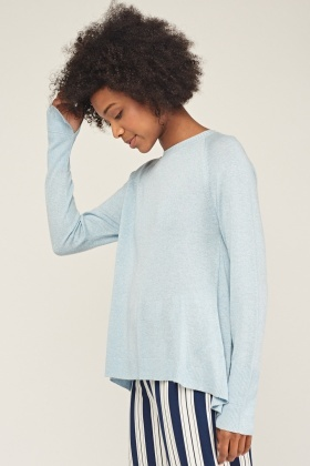 Box Pleated Back Knitted Pullover