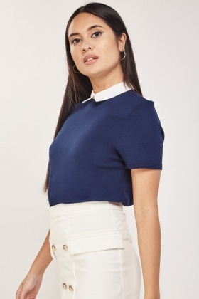 Collared Neck Jersey Top