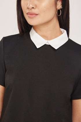 Short Sleeve Collared Top