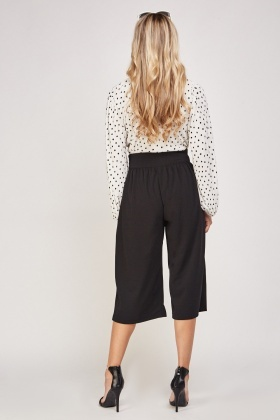 Corset Waist Cropped Trousers