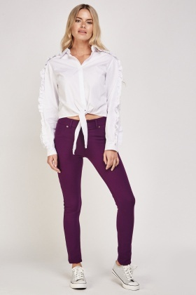 Plum Slim Fit Treggings