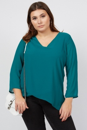 V-Neck Layered Front Blouse