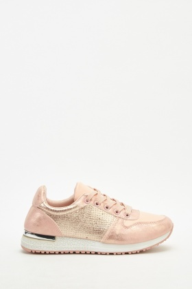 Metallic Contrast Trainers