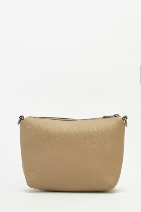 Textured Faux Leather Hobo Bag