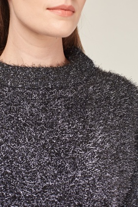 Metallic Eyelash Knit Jumper