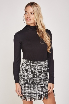 Slouchy Roll Neck Top
