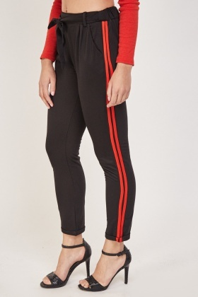 Stripe Side Jogger Style Pants