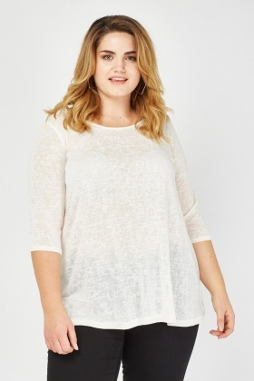 Casual Textured Flared Top