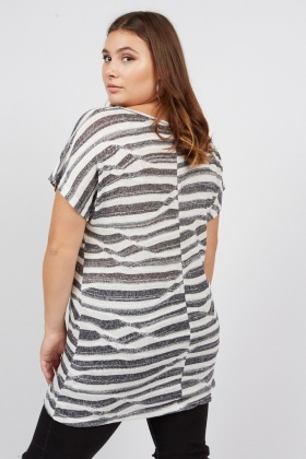 Sheer Knit Stripe Top