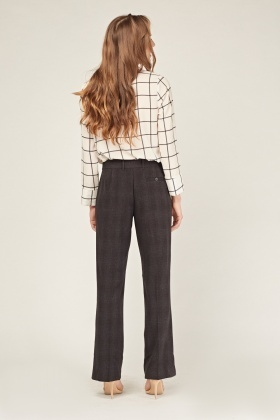 Straight Fit Charcoal Trousers
