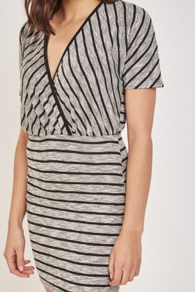 Striped Low Neck Dress
