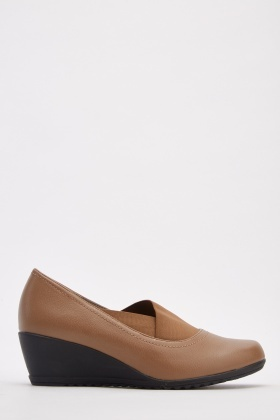 Elastic Insert Wedge Shoes