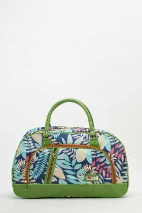 Leaf Printed Travel Bag