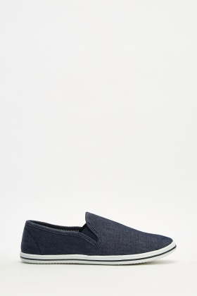 Men's Denim Slip-On Plimsolls