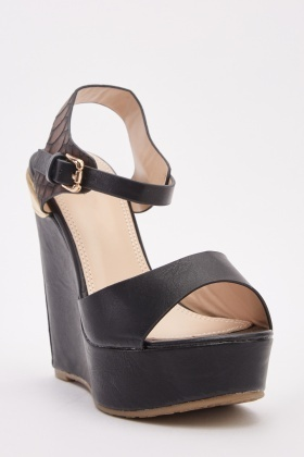 Metallic Back Wedge Platforms