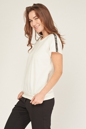 Sequin Insert Speckled Top