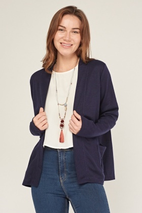 Twin Pocket Front Jersey Cardigan