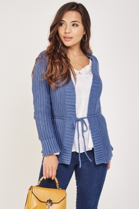 Herringbone Pattern Knit Cardigan