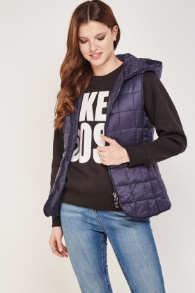 Quilted Hooded Bodywarmer