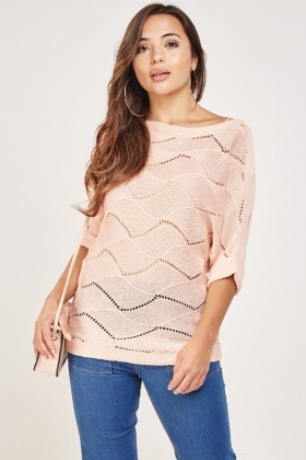Spiral Pattern Knitted Top