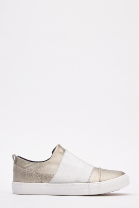 Contrast Elasticated Slip On