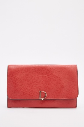 Detailed Flap Front Clutch Bag