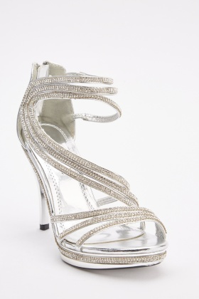 Diamante Embellished High Heels