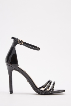 Strappy PVC High Heel Sandals