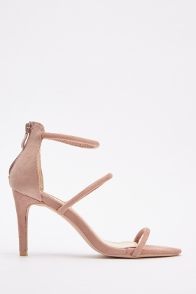 Suedette Strappy Heel Sandals