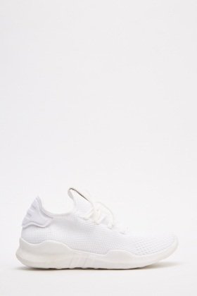 Textured Lace Up Trainers